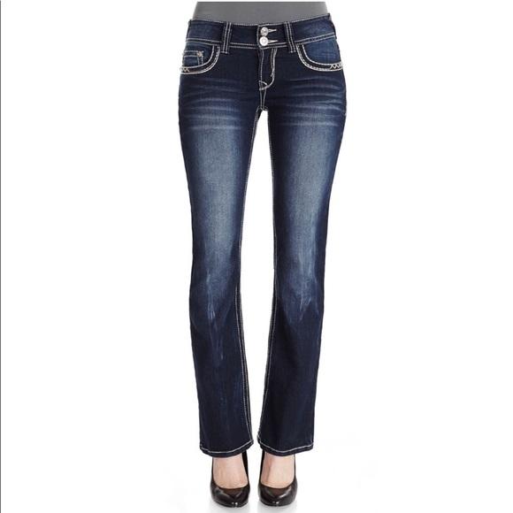 050b1127c55 Wallflower Luscious Curvy Embellished Bootcut Jean
